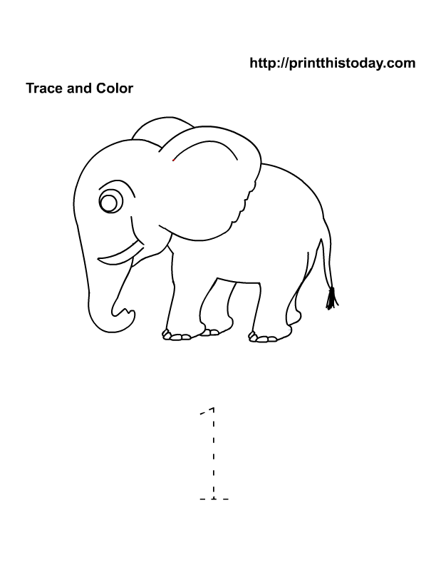 Worksheets Preschool Number 1 Worksheets number 1 one tracing and coloring worksheets crafts 5