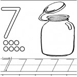number seven 7 coloring and tracing worksheets (1)