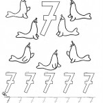 number seven 7 coloring and tracing worksheets (10)