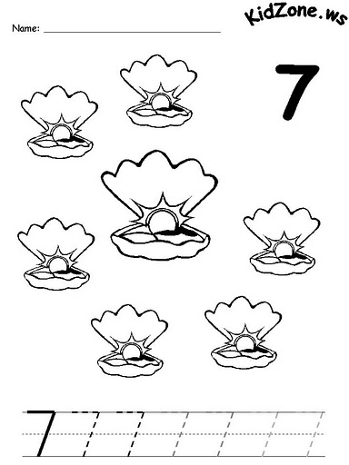 number 7 coloring pages for preschool | Crafts,Actvities and Worksheets for Preschool,Toddler and ...