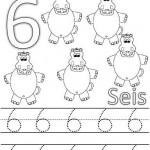 number six 6 tracing and coloring worksheets  (12)