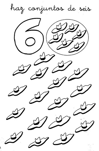 number six 6 tracing and coloring worksheets  (27)