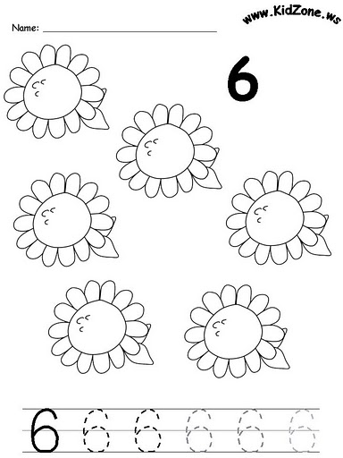 Free Worksheets » Number 6 Worksheets For Preschool - Free ...