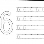 number six 6 tracing and coloring worksheets  (8)