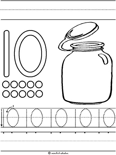 Preschool Number Worksheets 1 10 : Crafts actvities and worksheets for preschool toddler