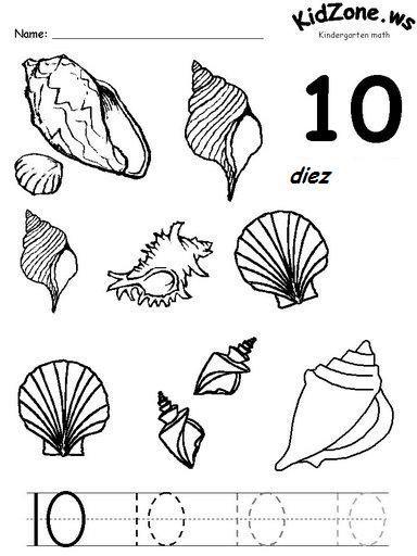 Common Worksheets » Tracing Number 10 - Preschool and Kindergarten ...