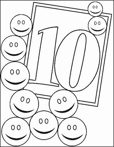 coloring pages for number 10 - photo#36