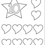 number ten 10 coloring and tracing worksheets  (8)