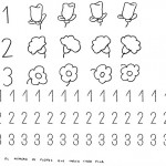 number three coloring and tracing worksheets (33)
