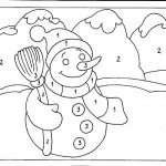 number three coloring and tracing worksheets (36)