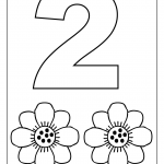 number two tracing and coloring worksheets  (1)