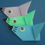 origami mouse craft