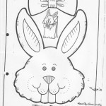 paper bag  bunny craft pattern