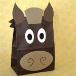 paper bag horse craft