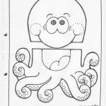 paper bag octapus craft pattern craft
