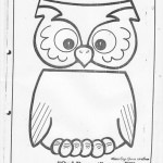 paper bag owl craft pattern
