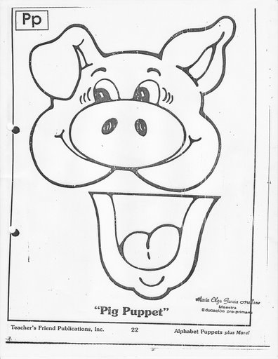 Crafts actvities and worksheets for preschool toddler and for Pig template for preschoolers