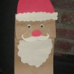 paper bag santa craft