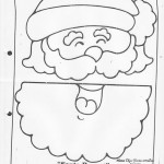 paper bag  santa craft pattern