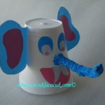 paper cup elphant craft