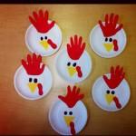 paper plate chicken