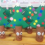 paper roll christmas tree craft