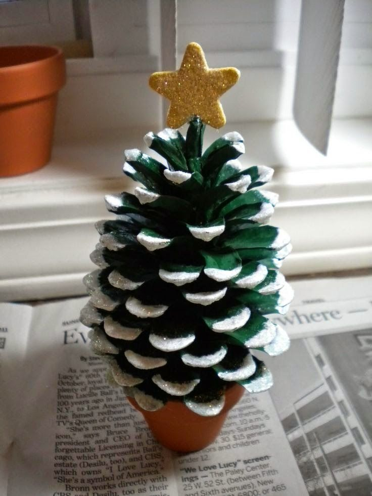 Pinecone Christmas Tree Craft Crafts And Worksheets For