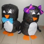 plastic bag penguin craft