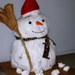 plastic bag snowman craft