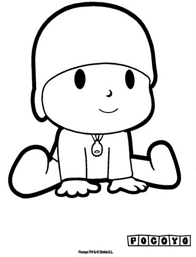 this - Pocoyo Friends Coloring Pages