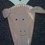 preschool paper plate goat craft
