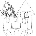preschool_castle_dot_to_dot_activity_page_ worksheets