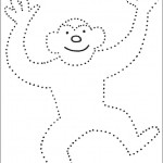 preschool_monkey_dot_to_dot_activity_page_ worksheets