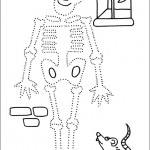 preschool_skeleton_dot_to_dot_activity_page_ worksheets