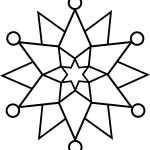 simple snowflake coloring pages free printable