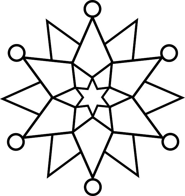 Free Snowflake Coloring Pages For Preschoolers, Download Free Clip ... | 636x600