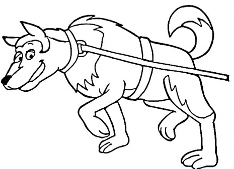 free sled dog coloring pages - photo#14