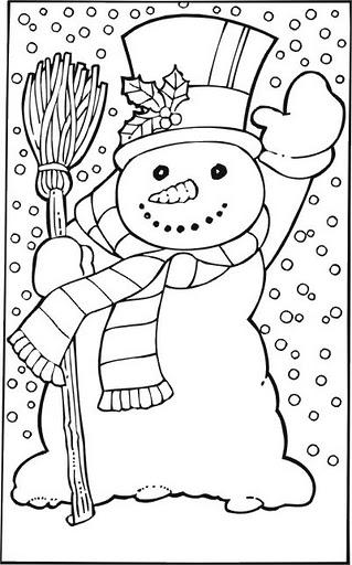snowman coloring (1)