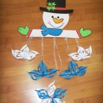 snowman mobile craft