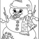 snowwoman coloring