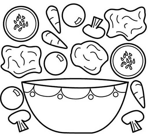 Vegetables coloring pages part 3 crafts and worksheets for Fruits coloring pages for preschoolers