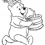 winnie the pooh happy birthday coloring pages - winnie the pooh tigger piglet eeore coloring pages