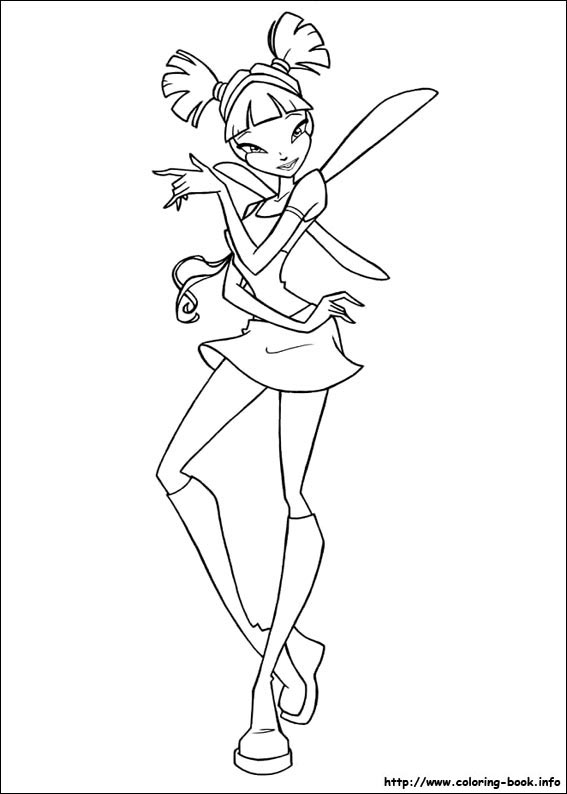 Winx Club Bloom Stella Musa Flora Tecna Layla Coloring Pages 34