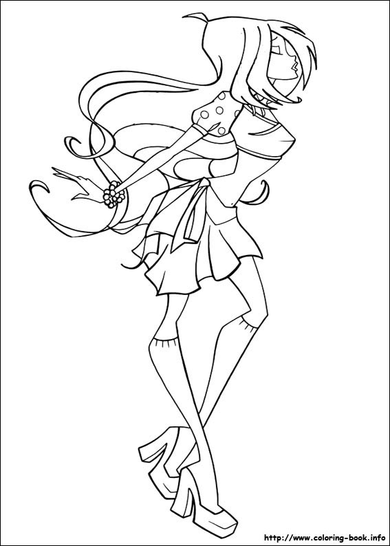 Winx Club Bloom Stella Musa Flora Tecna Layla Coloring Pages 82