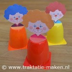 yogurt cup clown craft