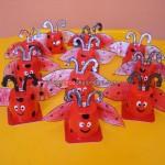 yogurt cup ladybug craft