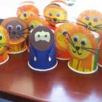 yogurt cup lion craft