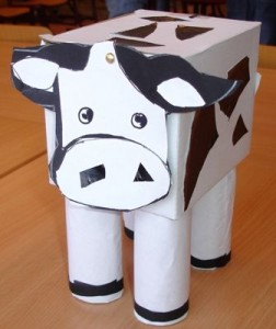 3 d cow craft