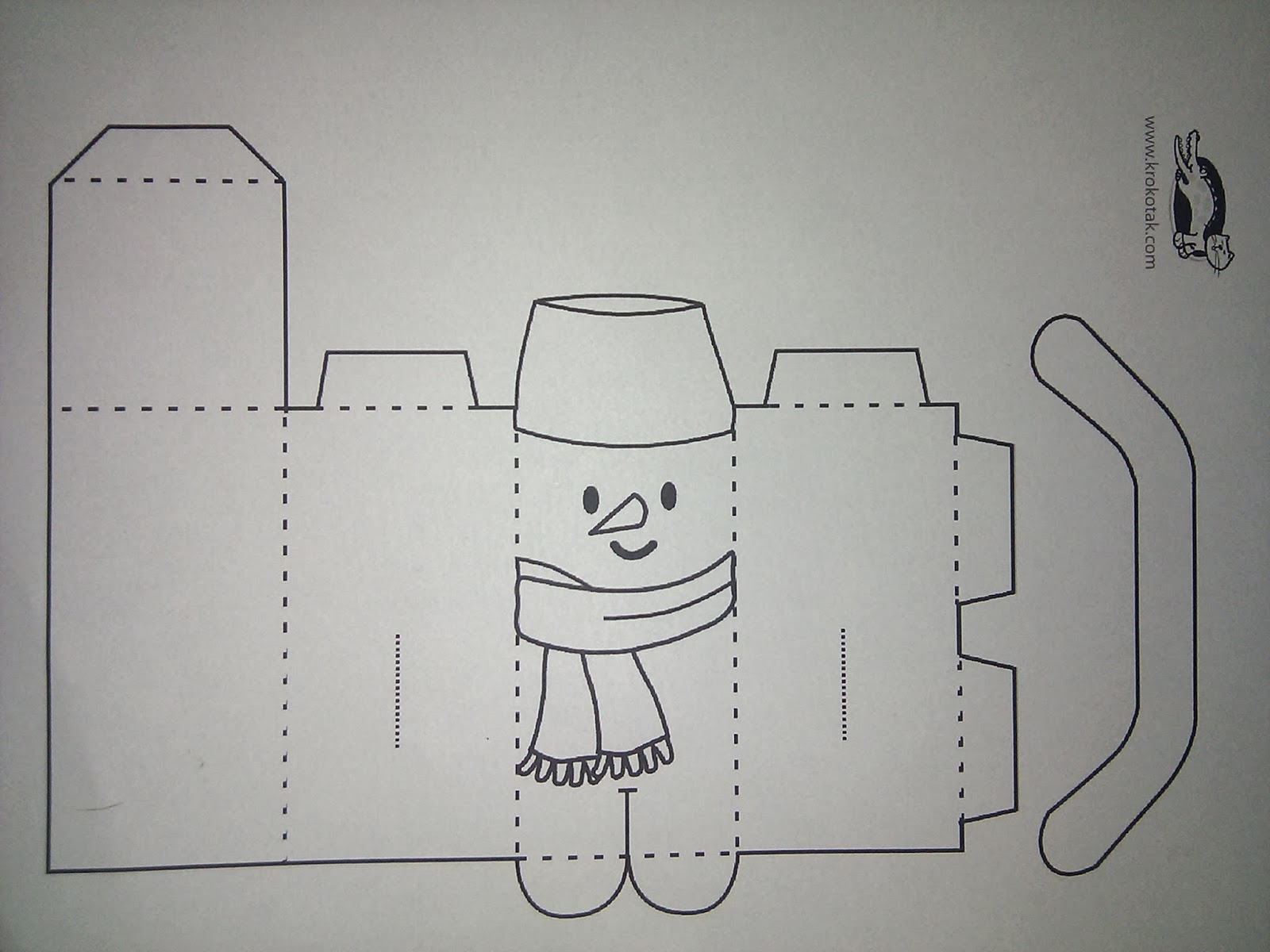 snowman template for kids