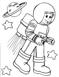 Astronauts Coloring Pages